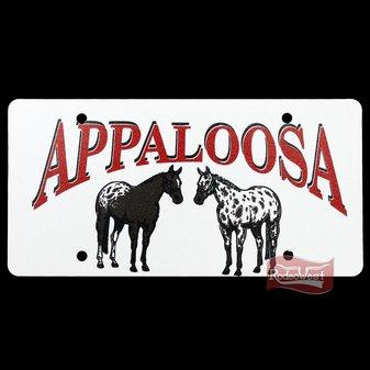 Placa decorativa de pvc appaloosa - rodeo west